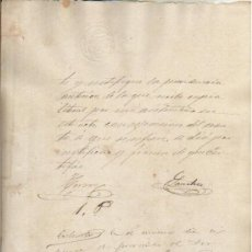 Manuscritos antiguos: 1887 DOCUMENTO MANUSCRITO TIMBRADO. PAPEL SELLADO FISCAL SELLO DE OFICIO 10 CTS. Lote 30820104