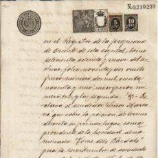 Manuscritos antiguos: 1900 DOCUMENTO MANUSCRITO TIMBRADO. PAPEL SELLADO FISCAL SELLO 13º 75 CTS IMPUESTO GUERRA 5 Y 10 CTS. Lote 39533375