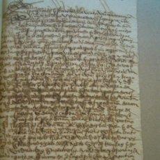 Manuscritos antiguos: MANUSCRITO 1566, VILLANUEVA DE CAMPEAN, VENTA PRADO GADAÑA DE HIERBA EN FAVOR DE GONZALO BROCHERO. . Lote 30851337