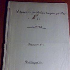 Manuscritos antiguos: PROYECTO DEL AÑO 1886 DE CONDUCCIÓN DE AGUAS POTABLES DE CAUDETE. ALBACETE.. Lote 31135131