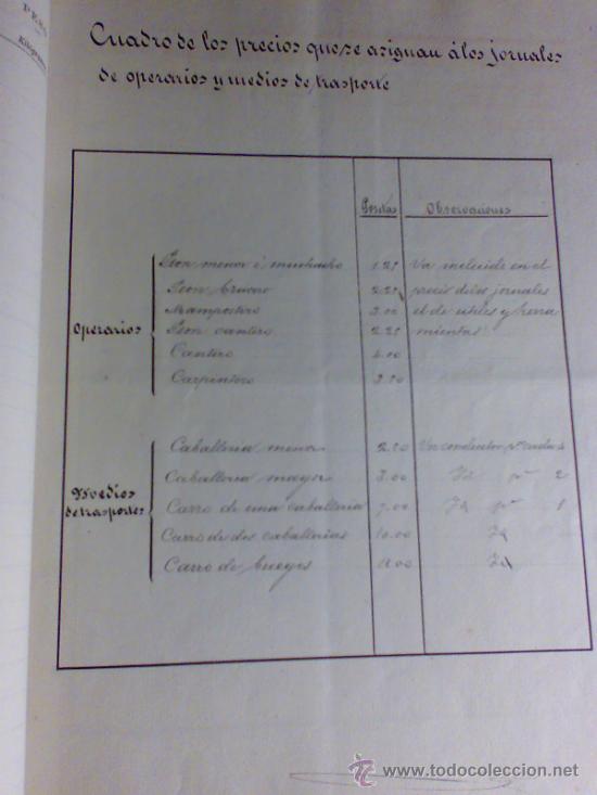 Manuscritos antiguos: PROYECTO DEL AÑO 1886 DE CONDUCCIÓN DE AGUAS POTABLES DE CAUDETE. ALBACETE. - Foto 3 - 31135131