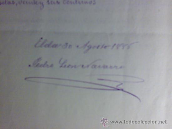 Manuscritos antiguos: PROYECTO DEL AÑO 1886 DE CONDUCCIÓN DE AGUAS POTABLES DE CAUDETE. ALBACETE. - Foto 6 - 31135131