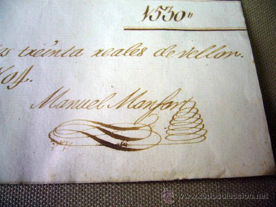 MANUSCRITO, GASTOS, REAL SOCIEDAD, AMIGOS PAIS VALENCIANO, IMPRENTA MANUEL MONFORT, VALENCIA 1804 (Coleccionismo - Documentos - Manuscritos)