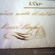 Manuscritos antiguos: MANUSCRITO, GASTOS, REAL SOCIEDAD, AMIGOS PAIS VALENCIANO, IMPRENTA MANUEL MONFORT, VALENCIA 1804. Lote 31235252