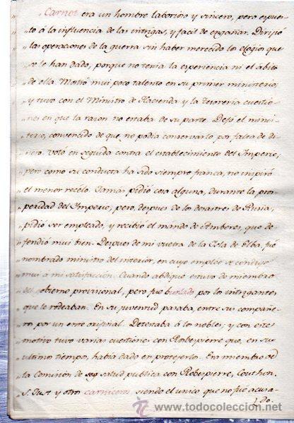 Manuscritos antiguos: BIOGRAFÍA DE MINISTROS FRANCESES, 1750, DATOS BIOGRÁFICOS, PERSONALES Y LABORALES - Foto 3 - 31411300