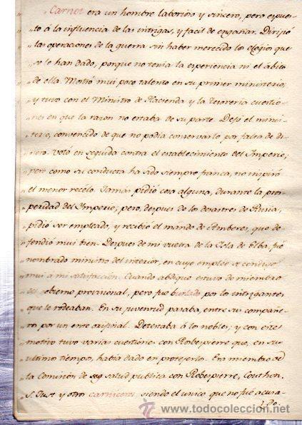 Manuscritos antiguos: BIOGRAFÍA DE MINISTROS FRANCESES, 1750, DATOS BIOGRÁFICOS, PERSONALES Y LABORALES - Foto 2 - 31411300