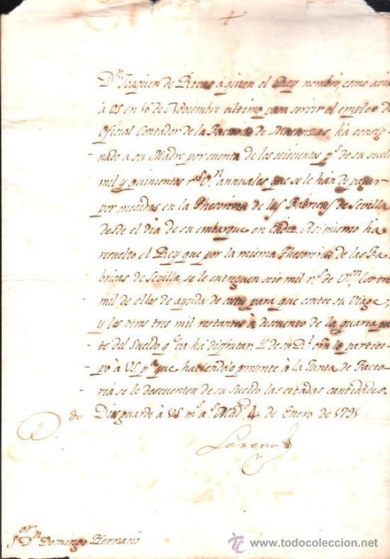 CUBA. NOMBRAMIENTO DE CONTADOR DE LA FACTORA DE MATANZAS. CREDITO QUE SE CONCEDE A JOAQUIN DE RIVAS (Coleccionismo - Documentos - Manuscritos)