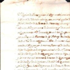 Manuscritos antiguos: CUBA. NOMBRAMIENTO DE CONTADOR DE LA FACTORA DE MATANZAS. CREDITO QUE SE CONCEDE A JOAQUIN DE RIVAS. Lote 31574273