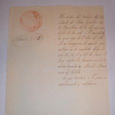 Manuscritos antiguos: .CONCESION DE LA CRUZ ROJA DE 1ª CLASE AL MERITO MILITAR - 1874 (REGIMIENTO DE INFANTERIA). Lote 31614155