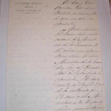 Manuscritos antiguos: CONCESION DEL GRADO DE TENIENTE CORONEL - 1875 (HERIDO EN ACCION DE GUERRA Y TOMA DE LA GUARDIA). Lote 31614223