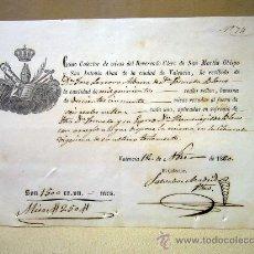 Manuscritos antiguos: DOCUMENTO, MANUSCRITO, 1860, VALENCIA, RECIBO. Lote 31766138