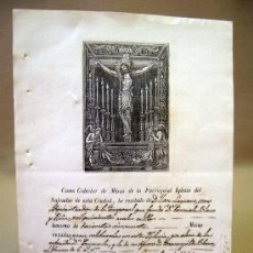 Manuscritos antiguos: DOCUMENTO, MANUSCRITO, RECIBO, IGLESIA, 1860, VALENCIA. Lote 31766175