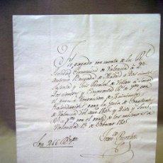 Manuscritos antiguos: DOCUMENTO, MANUSCRITO, 1805, RECIBO, VALENCIA. Lote 31767083