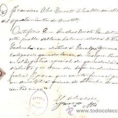 Manuscritos antiguos: ARISTOT (LLEIDA).1905.CERTIFICADO FIRMA Y SELLO ALCANDE VENTA GANADO LANAR. Lote 31756853