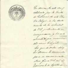 Manuscritos antiguos: ANTIGUO DOCUMENTO AÑO 1879 SELLO DEL COLEGIO DE ABOGADOS DE ZAMORA. Lote 38393099