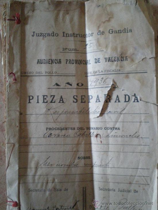 1936 cullar baza granada gandia documento comprar - Baza granada fotos ...