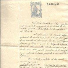 Manuscritos antiguos: PS3444 LOTE DE 6 CERTIFICADOS DE BUENA CONDUCTA DE UN ALUMNO DE NÁUTICA. S. XIX. Lote 32040196