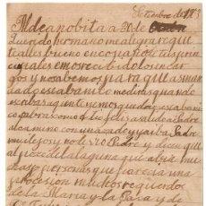 Manuscritos antiguos: *** CARTA PERSONAL MANUSCRITA SEPTIEMBRE DE 1903 ***. Lote 32049978