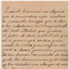 Manuscritos antiguos: *** CARTA PERSONAL MANUSCRITA ALDEANUEVA DE SAN BARTOLOMÉ 1 SEPTIEMBRE 1904 ***. Lote 32050032