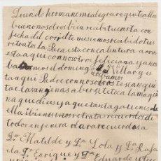 Manuscritos antiguos: *** CARTA PERSONAL MANUSCRITA 28 SEPTIEMBRE 1902 ***. Lote 32050103