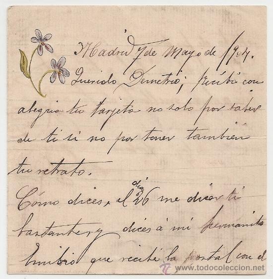 *** CARTA PERSONAL MANUSCRITA MADRID 7 MAYO 1904 *** (Coleccionismo - Documentos - Manuscritos)