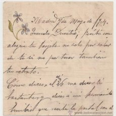 Manuscritos antiguos: *** CARTA PERSONAL MANUSCRITA MADRID 7 MAYO 1904 ***. Lote 32050123
