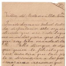 Manuscritos antiguos: *** CARTA PERSONAL MANUSCRITA VILLAR DEL PEDROSO 11 NOVIEMBRE 1904 ***. Lote 32136763