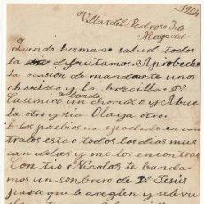 Manuscritos antiguos: *** CARTA PERSONAL MANUSCRITA VILLAR DEL PEDROSO 3 MAYO 1904 ***. Lote 32136818