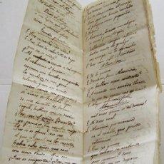 Manuscritos antiguos: CIRCA 1800 .. RARO MANUSCRITO ESPAÑOL ... UNA OBRA DE TEATRO .. WS. Lote 32174460