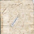 Manuscritos antiguos: MANUSCRITO AÑO 1711 PLACID DE MONTOLIU BLANES COLEGIATA DEL CASTILLO DE CARDONA GUERRA DE SUCESION. Lote 32209791