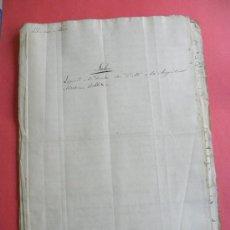 Manuscritos antiguos: EXPEDIENTE MANUSCRITO CUENTAS CENSO CASA M.A,MARTINEZ ROBLEDO CORRAL DEL PASO.GRANADA 1818. Lote 32243118
