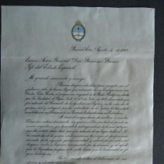 Manuscritos antiguos: SEGOVIA.BUENOS AIRES (ARGENTINA) CARTA MANUSCRITA DE JUAN DOMINGO PERON A FRANCO 1948 ¡¡¡RARISIMA!!!. Lote 32442838