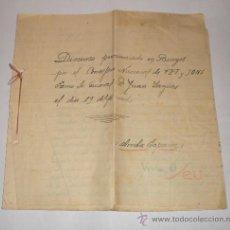 Manuscritos antiguos: DISCURSO PRONUNCIADO EN BURGOS POR JUAN YAGÜES (CONSEJERO NACIONAL DE FET Y JONS)19 DE ABRIL 1938. Lote 32725197
