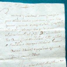 Manuscritos antiguos: DOCUMENTOS - 1781 - ESCRITURA MANUSCRITA - BOLOS - BASSOLS - ISERN - BASCARA - OLOT - 1781 - CATALAN. Lote 33093483