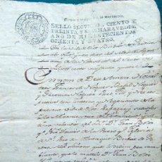 Manuscritos antiguos: DOCUMENTOS - 1784 - ESCRITURA MANUSCRITA - NOGUER - ISERN - BOLOS - OLOT - FIGUERAS - 1784 - CATALAN. Lote 33093678