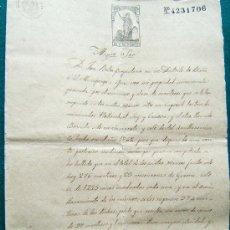 Manuscritos antiguos: DOCUMENTOS - 1872 - ESCRITURA MANUSCRITA -BOLOS -BIAÑA -CAPSECH -SUCARRATS -OLOT - 1872 - CASTELLANO. Lote 33094447