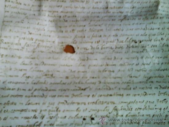 Manuscritos antiguos: 1619 CARTA DE GRACIA REALIZADA EN MOLINS DE REY - TRES SIGNUM - LATÍN - Foto 5 - 33376653