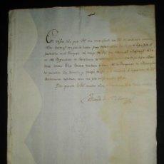 Manuscritos antiguos: DOCUMENTO AUTOGRAFO CONDE DE STA CLARA SOBRE ARRESTO SILLERO RGTO.DE DRAGONES POR ESPONSALES AÑO1807. Lote 127129318