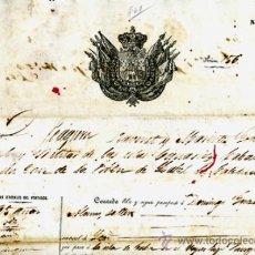 Manuscritos antiguos: DOCUMENTO CONCESION DE PASAPORTE A ESPAÑOL DE CANARIAS , CUBA 1860 , ORIGINAL, A21. Lote 33482556
