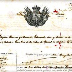 Manuscritos antiguos: DOCUMENTO CONCESION DE PASAPORTE A ESPAÑOL DE CANARIAS , CUBA 1860 , ORIGINAL, A22. Lote 33482569