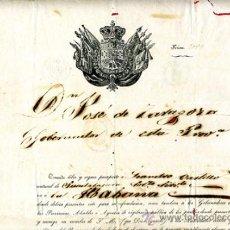 Manuscritos antiguos: DOCUMENTO CONCESION DE PASAPORTE A ESPAÑOL DE GUADALAJARA , CUBA 1853 , ORIGINAL, A26. Lote 33482614