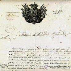 Manuscritos antiguos: DOCUMENTO CONCESION DE PASAPORTE A ESPAÑOL DE CANARIAS , CUBA 1855 , ORIGINAL, A29. Lote 33482659