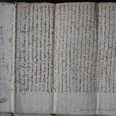 Manuscritos antiguos: 1783.VENTA PERPETUA DE UN TERRENO DE VIÑA PLANTADA EN AGUDA PARTIDO DE EMPALOUS LLEIDA LERIDA TORA. Lote 33643629