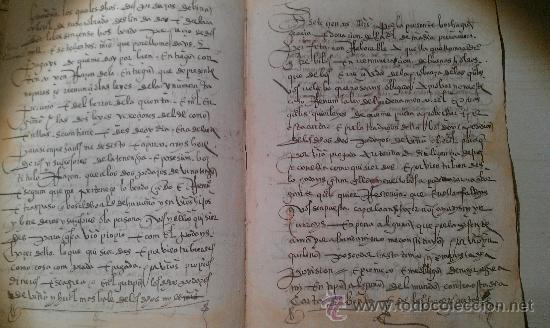 1561. GERIA. VALLADOLID. COMPRAVENTA DE DOS PEDAZOS DE VIÑA . 8 PÁG. MANUSCRITAS VINO ENOLOGIA (Coleccionismo - Documentos - Manuscritos)