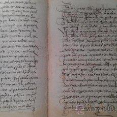 Manuscritos antiguos: 1561. GERIA. VALLADOLID. COMPRAVENTA DE DOS PEDAZOS DE VIÑA . 8 PÁG. MANUSCRITAS VINO ENOLOGIA. Lote 33793321