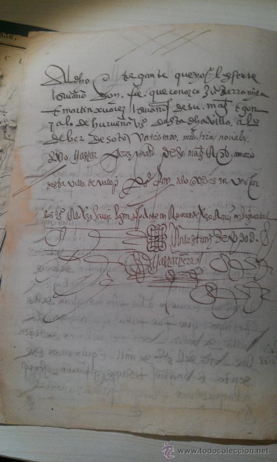 Manuscritos antiguos: 1561. GERIA. VALLADOLID. COMPRAVENTA DE DOS PEDAZOS DE VIÑA . 8 PÁG. MANUSCRITAS VINO ENOLOGIA - Foto 2 - 33793321