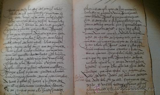 Manuscritos antiguos: 1561. GERIA. VALLADOLID. COMPRAVENTA DE DOS PEDAZOS DE VIÑA . 8 PÁG. MANUSCRITAS VINO ENOLOGIA - Foto 3 - 33793321