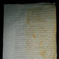 Manuscritos antiguos: DISPENSA POR CONSANGUINIDAD PARA MATRIMONIO POR VIA LIMOSMA DE P.ROLDAN 3ER PROFESOR DE VETERINARIA. Lote 34076270