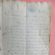 Manuscritos antiguos: MANUSCRITO APEO DESLINDE TIERRAS COLEGIO ESLONZA MANSILLA MULAS ( LEÓN ) 1859 ( 1762). Lote 34098752