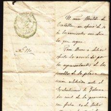Manuscritos antiguos: CONVOCATORIA Nº 110 DEL SINDICATO DE AGUAS VILLAREAL AÑO 1877, DOCUMENTO MANUSCRITO DE 1877 ,. Lote 34322311